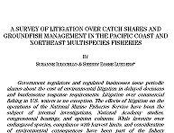 Law Review Article on Litigation in the Northeast and West Coast Catch Share Fisheries